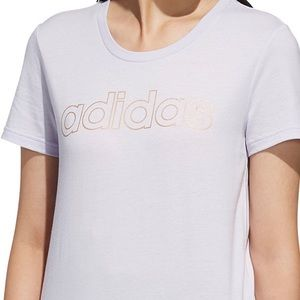 Adidas women dry fit shirt lilac color